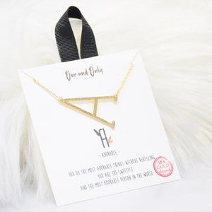 Sideways Initial A One and Only Necklaces Mono